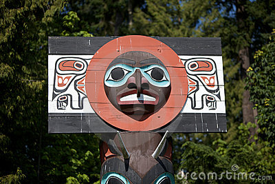 Totem of Indian Culture in Vancouver