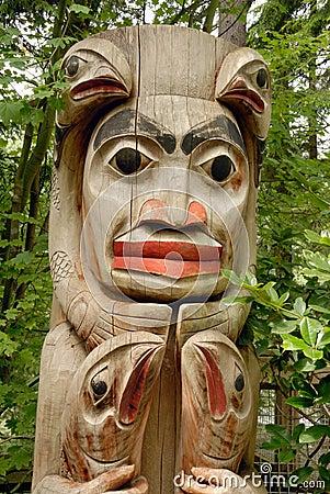 Totem Pole detail, Alberta Canada