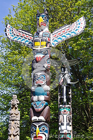 Free Totem Pole In Stanley Park Royalty Free Stock Photography - 40409997