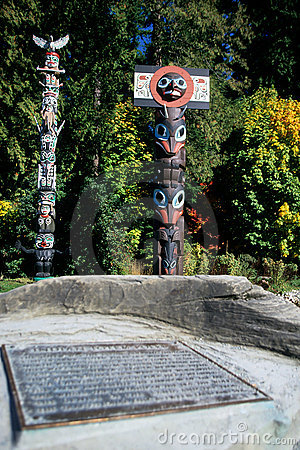 Totem pole- Vancouver, Canada