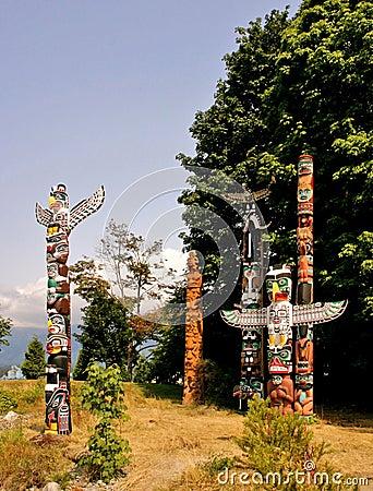 Free Totem Poles Stock Image - 1153711