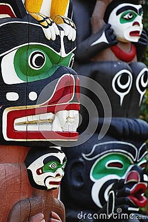 Free Totem Poles Stock Image - 11657211