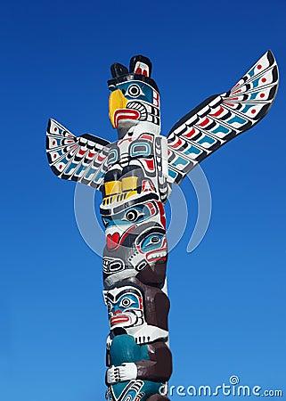Free Totem Poles Royalty Free Stock Photo - 34752415