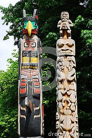 Free Totem Poles Royalty Free Stock Photos - 5357058