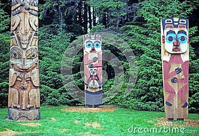 Totem poles in Alaska