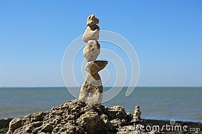 Totem of zen stones