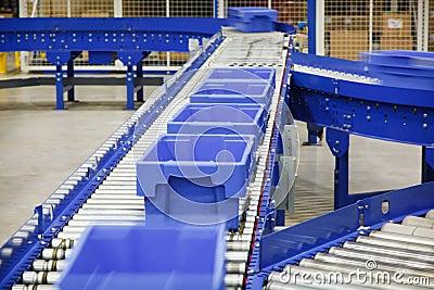 Totes on a Conveyor Belt