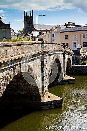 Totnes bridge in Totnes, Devon