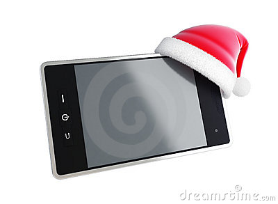 Touch phone santa hat