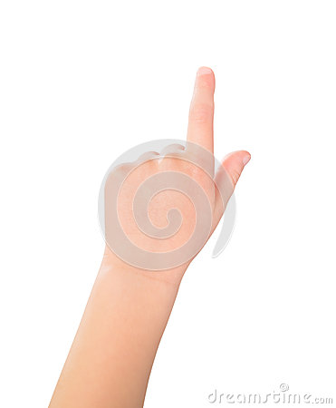 Free Touch Screen Child Gesture Stock Photography - 27617102