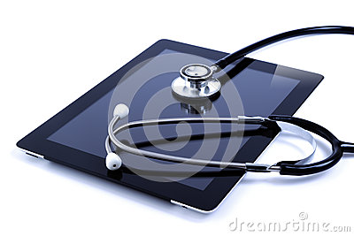 Touch screen digital tablet with stethoscope