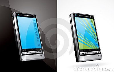 Touch screen electronic device