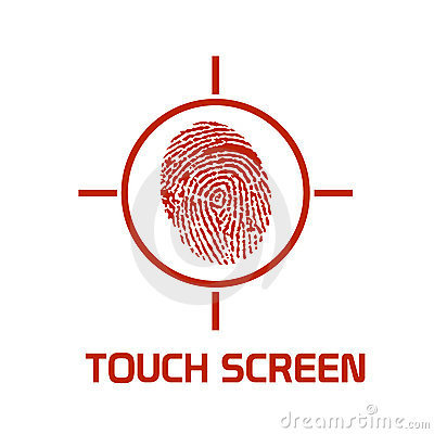 Touch screen enhanced symbol