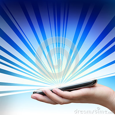 Touch screen of mobile phone.