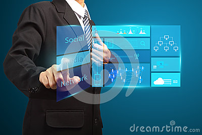Touch screen new modern computer business strategy