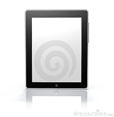 Touch screen tablet monitor (Clipping Path)