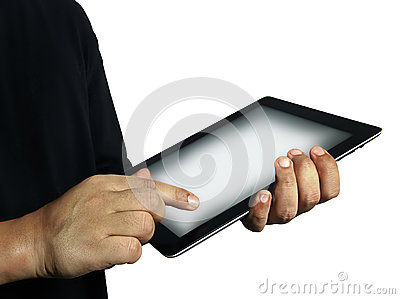 Touch on tablet