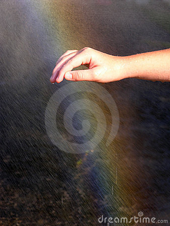 Free Touch The Rainbow Royalty Free Stock Image - 2828276