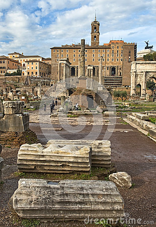 Touch to history, the Roman Forum, Rome