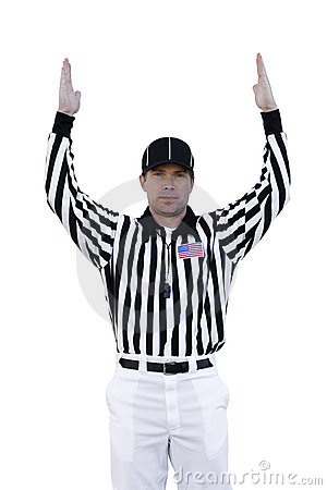 Free Touchdown Referee Royalty Free Stock Images - 7113379