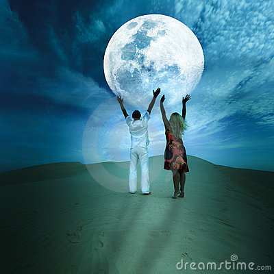 Free Touching The Moon Royalty Free Stock Images - 15153479