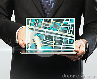 Touchpad with map