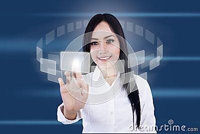 Touchscreen interface