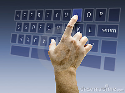Touchscreen interface keyboard AZERTY