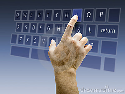 Touchscreen interface keyboard QWERTY