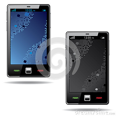Touchscreen smart phone with abstract screen