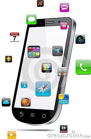 Touchscreen smartphone concept.