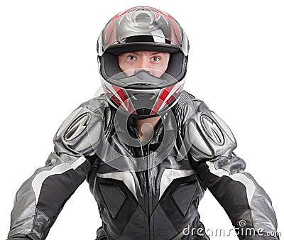 Tough biker steering