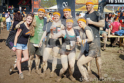 Tough Mudder: Group of Happy Race Finishers