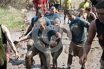 Tough Mudder: Racers in the Mud Editorial Stock Image