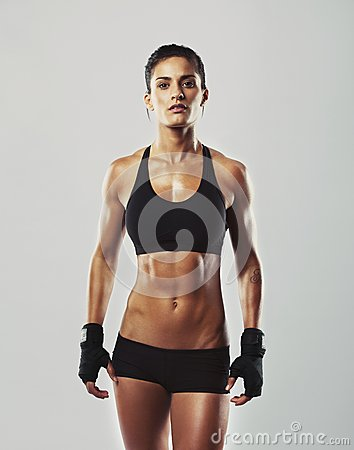 Free Tough Young Woman With Muscular Body Royalty Free Stock Photo - 35861105