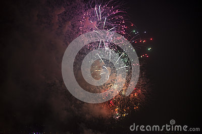 Toulon (France): fireworks