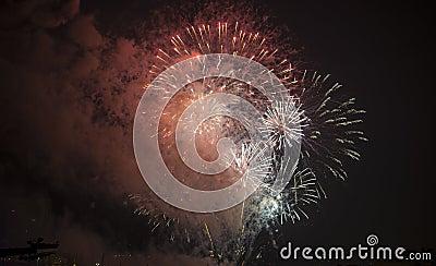 Toulon (France): fireworks