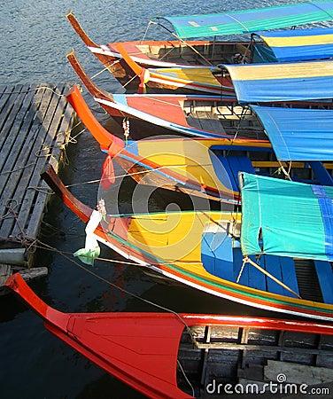 Tour boats in Phang Nga Bay, Thailand