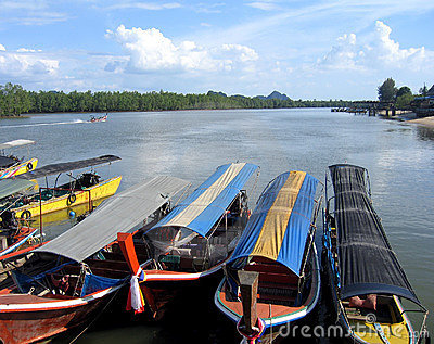 Tour boats in Thailand