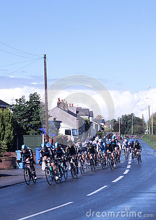 Tour of Britain cycle race stage 4 main peleton Editorial Stock Photo
