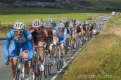 Tour of Britain Stage 2 Peloton Editorial Photo