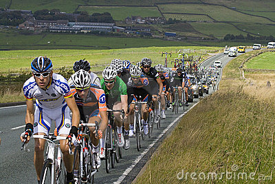 Tour of Britain Stage 2 Peloton Editorial Image