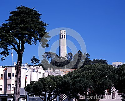 Tour de Coit, San Francisco, Etats-Unis.