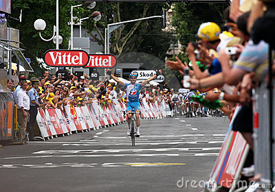 Tour de France 2009 de le - autour de 4 Image stock éditorial