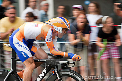 Tour de France 2010. Prólogo Foto de archivo editorial
