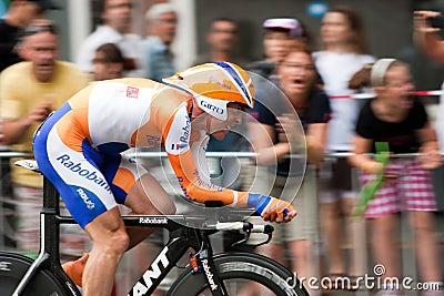 Tour de France 2010. Prologue Fotografia Stock Editoriale