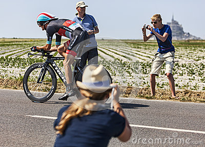 Tour de France Action Editorial Image