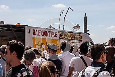 Tour de France Crush Editorial Photography