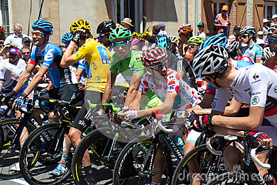 Tour de France, departure. Editorial Stock Image