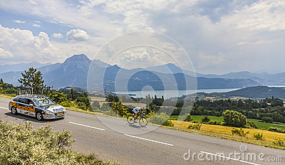 Tour de France Landscape Editorial Photo